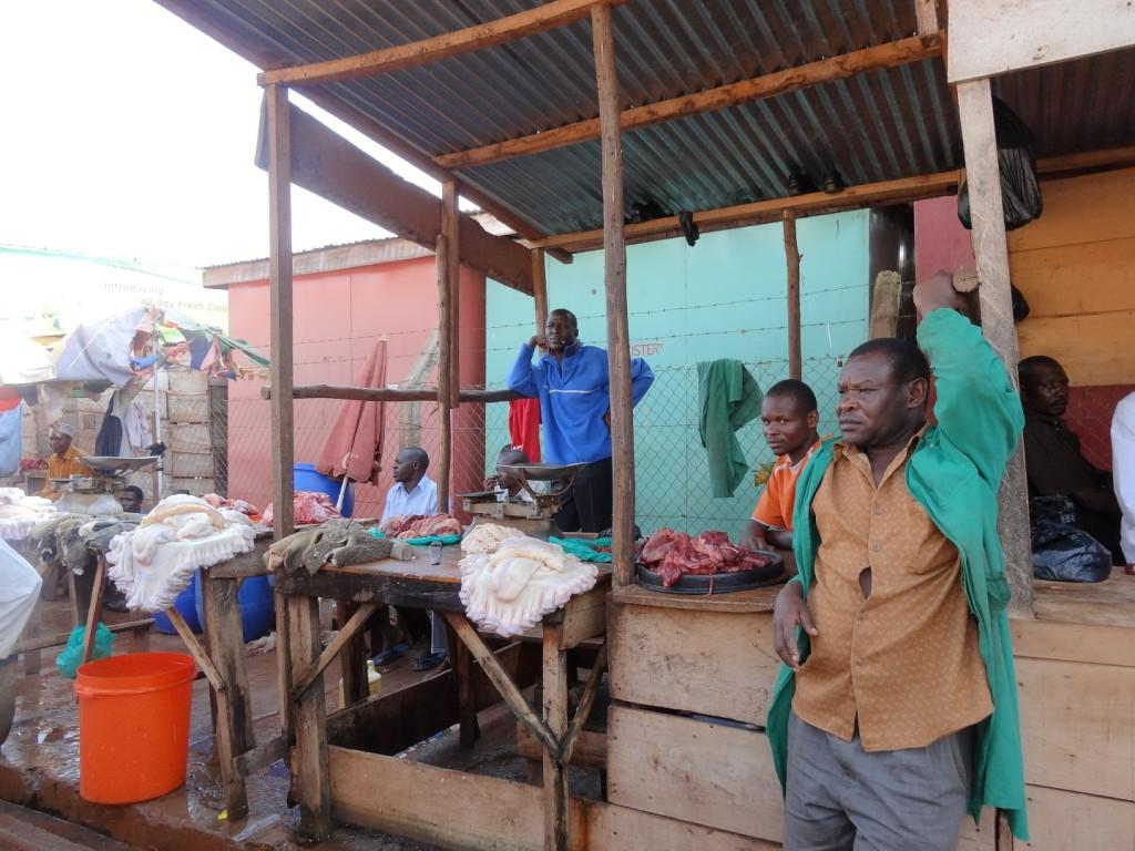 Vlees op de markt